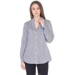 Блузка женская Baon, цвет: синий. B178044_Dark Navy Striped. Размер XL (50)