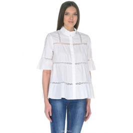 Блузка женская Baon, цвет: белый. B178032_White. Размер L (48)