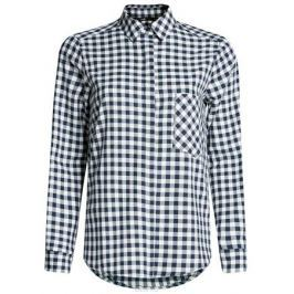 Рубашка женская oodji Ultra, цвет: темно-синий, белый. 11411099-1/43566/7912C. Размер 44-170 (50-170)