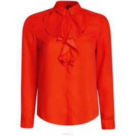 Блузка женская oodji Collection, цвет: красный. 21411090/36215/4510D. Размер 46-170 (52-170)