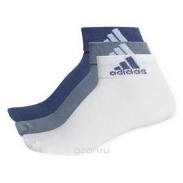 Носки Adidas Per Ankle T, цвет: синий, серый, белый, 3 пары. CF7368. Размер 47/50