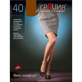 Колготки женские Грация Вика комфорт 40, цвет: загар. Размер 3 (44)