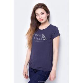 Футболка женская Sela, цвет: темно-синий. Ts-111/278-8112. Размер XS (42)