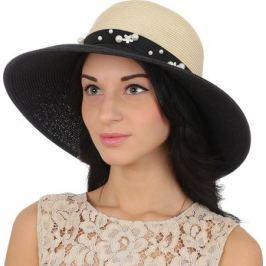 Соломенная шляпа женская Fabretti, цвет: бежевый. G44. Размер 56/59