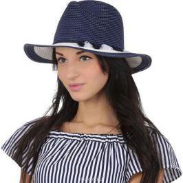 Соломенная шляпа женская Fabretti, цвет: синий. GL50. Размер 56/59