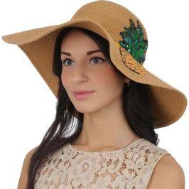 Соломенная шляпа женская Fabretti, цвет: бежевый. GL60. Размер 56/59