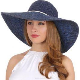 Соломенная шляпа женская Fabretti, цвет: синий. K5. Размер 56/59