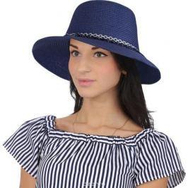 Соломенная шляпа женская Fabretti, цвет: голубой. P3. Размер 56/59