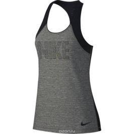 Майка женская Nike Pro Tank, цвет: серый, черный. AH2275-091. Размер S (42/44)