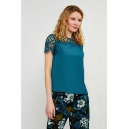 Блузка женская Zarina, цвет: темно-зеленый. 8224073303017. Размер 48
