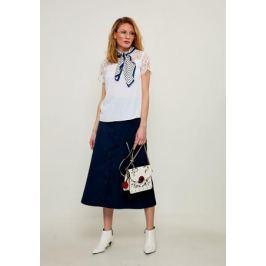 Блузка женская Zarina, цвет: белый. 8224073303001. Размер 46 Женская одежда