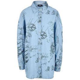 Рубашка женская Only, цвет: синий. 15148622_Light Blue Denim. Размер 42 (48)