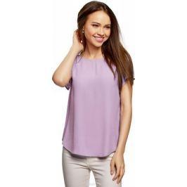 Блузка женская oodji Ultra, цвет: сиреневый. 11411138B/46249/8001N. Размер 34-170 (40-170)