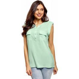 Блузка женская oodji Collection, цвет: ментоловый. 21412132-4B/24681/6501N. Размер 40-170 (46-170)