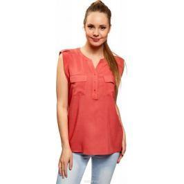 Блузка женская oodji Collection, цвет: коралловый. 21412132-4B/24681/4300N. Размер 42-170 (48-170)