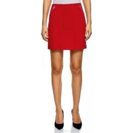 Юбка oodji Ultra, цвет: красный. 14101100/33185/4501N. Размер XL (50)