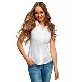 Блузка женская oodji Collection, цвет: белый. 21407022-12/48131/1212D. Размер 38 (44-170)