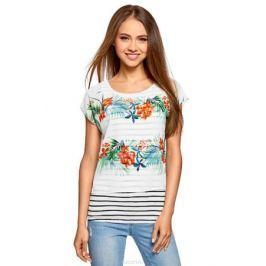 Блузка женская oodji Collection, цвет: белый. 21400311-6/15018/1019F. Размер 46 (52-170)