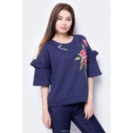 Блузка женская United Colors of Benetton, цвет: синий. 3J70E10D3_13C. Размер L (46/48)