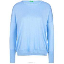 Джемпер женский United Colors of Benetton, цвет: голубой. 102LD1F23_20B. Размер M (44/46)