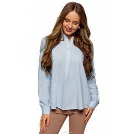 Блузка женская oodji Collection, цвет: голубой. 21411113B/26346/7002N. Размер 38 (44-170)