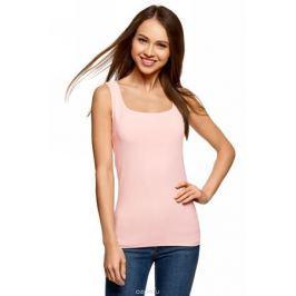 Топ женский oodji Collection, цвет: светло-розовый. 24315002-1B/45297/4002N. Размер XXS (40)