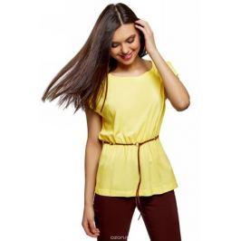 Блузка женская oodji Ultra, цвет: желтый. 11400345-4B/24681/5200N. Размер 34 (40-170)
