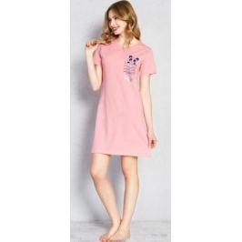 Туника домашняя женская Vienetta's Secret Панда, цвет: розовый. 709048 0000. Размер XL (50)