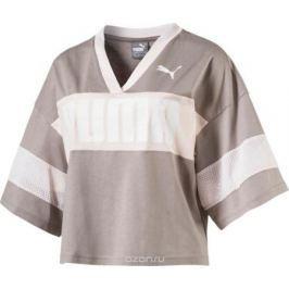 Футболка женская Puma Urban Sports Cropped Tee, цвет: серый. 85001117. Размер L (46/48)