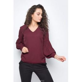 Блузка женская adL, цвет: бордовый. 11533109000_012. Размер XS (40/42)