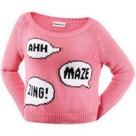 Свитер женский Reebok Y Sweater, цвет: розовый. S93821. Размер L (50/52)