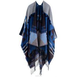 Пончо женское Bradex Блю, цвет: синий, серый. AS 0288. Размер 150 х 130 см