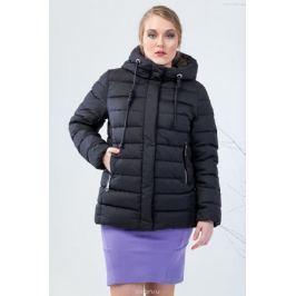 Пуховик женский Clasna, цвет: черный. CW17D-013CWL. Размер 50 Женская одежда