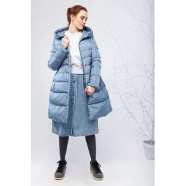 Куртка женская Clasna, цвет: голубой. CW17D-039CW. Размер XL (48) Женская одежда