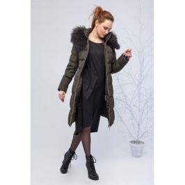 Куртка женская Clasna, цвет: темно-зеленый. CW17D-085CQ. Размер XXL (50) Женская одежда