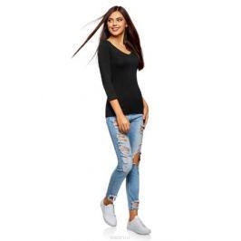 Лонгслив женский oodji Collection, цвет: черный, 2 шт. 24211002T2/46147/2900N. Размер XXS (40) Женская одежда