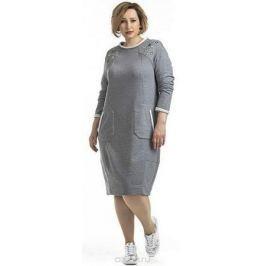 Платье Averi, цвет: серый меланж. 1343_305. Размер 62 (66) Женская одежда