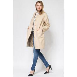 Пальто женское Tom Farr, цвет: бежевый. T4FW9592.14702-1. Размер XXL (52) Женская одежда
