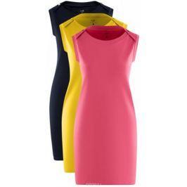 Платье oodji Ultra, цвет: темно-синий, желтый, розовый, 3 шт. 14005074T3/46149/8. Размер S (44) Женская одежда