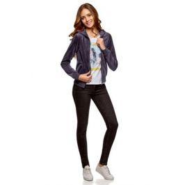 Толстовка женская oodji Ultra, цвет: темно-синий. 16901082B/47883/7901N. Размер XL (50) Женская одежда