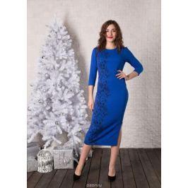 Платье Lautus, цвет: синий, черный. 930. Размер 52 Женская одежда