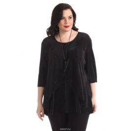 Блузка женская Averi, цвет: черный. 1364_001. Размер 60 (64)
