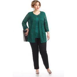 Комплект одежды женский Averi: жакет, топ, цвет: малахитовый. 1351_021. Размер 62 (66) Женская одежда