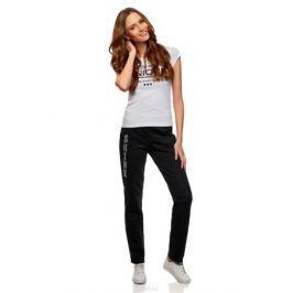 Брюки женские oodji Ultra, цвет: черный, серебристый. 16701053-1/47906/2991P. Размер XXS (40) Женская одежда