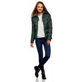 Куртка женская oodji Ultra, цвет: темно-изумрудный. 10204045/45810/6E00N. Размер 44-170 (50-170) Женская одежда