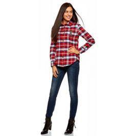Рубашка женская oodji Ultra, цвет: белый. 13L11005/47542/1245C. Размер 44-170 (50-170) Женская одежда