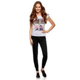 Брюки женские oodji Ultra, цвет: черный. 16701055B/47999/2900N. Размер XXS (40) Женская одежда