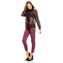 Блузка женская oodji Ultra, цвет: черный. 11411183/15036/2900N. Размер 34-170 (40-170) Женская одежда