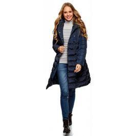 Пальто женское oodji Ultra, цвет: темно-синий. 10204049B/24771/7900N. Размер 34-170 (40-170) Женская одежда