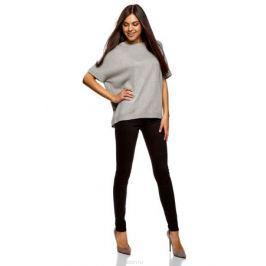Джемпер женский oodji Ultra, цвет: серый меланж. 63807326/47484/2300M. Размер M (46) Женская одежда